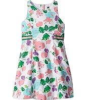 A-Line Contrast Stripe Dress (Toddler/Little Kids/Big Kids)