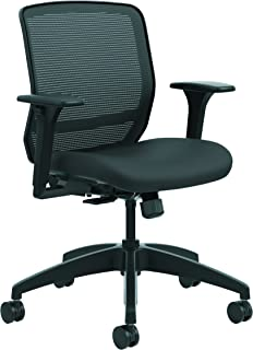 The HON Company HQTMM.Y0.A.H.IM.CU10.SB HONQTMMY1ACU10 HON QTMMY1ACU10 Quotient Series Mesh Mid-Back Task Chair, Black Centurion