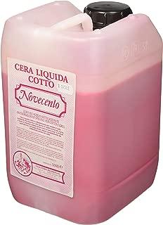 Cera Novecento k923Cera liquida Cotto, rojo Casale, 5L