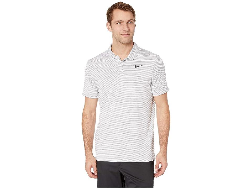 Nike Golf Dry Polo Stripe (White/Black) Men