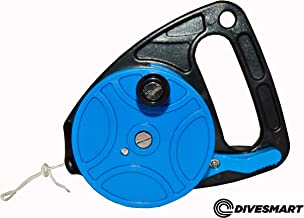 DiveSmart Scuba Diving Reel with Thumb Stopper and High Visibility White Line (150ft', 270ft') - for Cave and Wreck Exploration, Recreational Diving and Spear Fishing