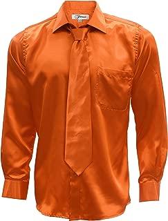 Best mens orange satin shirt Reviews