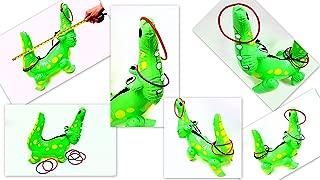 Dondor Enterprises Inflatable Alligator Ring Toss Game, 22