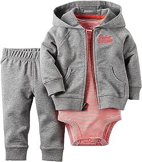 Carter's baby-boys 2 Piece Striped Cardigan Set 121g375