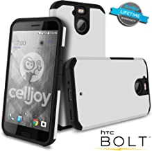 Celljoy Case Compatible withHTC Bolt, HTC 10 EVO Model [[Will NOT FIT HTC 10]] [Liquid Armor] [Dual Layer] Protective Hybrid [[Shockproof]] - Thin Hard Shell/Soft TPU Skin - Matte (Metallic Silver)