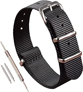 Nylon NATO Watch Strap Band Replacement Thin(12mm 13mm 14mm 15mm 16mm 17mm)