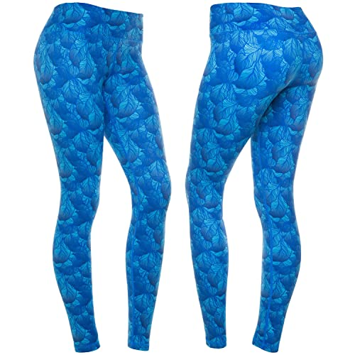 ae4fbbc4d2 CompressionZ Women's Compression Pants (Leaves Green L) Best Full Leggings  Tights for Running,