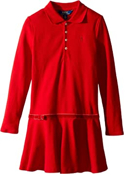 Polo Ralph Lauren Kids - Stretch Cotton Polo Dress (Little Kids)