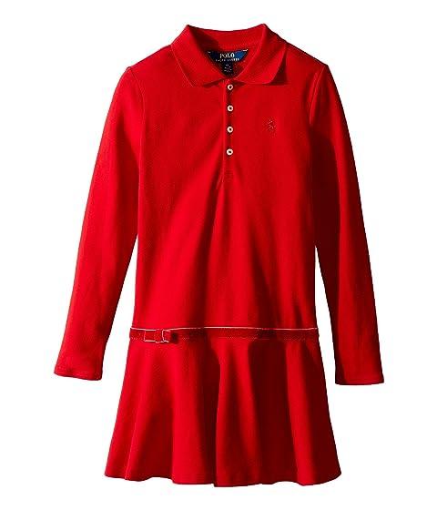 Polo Ralph Lauren Kids Stretch Cotton Polo Dress (Little Kids)
