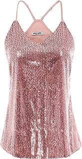 comprar comparacion GRACE KARIN Camiseta de Tirantes para Mujer de Lentajuelas con Encaje para Fiesta
