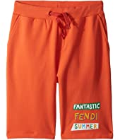 Fendi Kids - 'Fantastic Fendi Colours' Jogging Shorts (Big Kids)