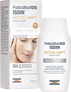 FotoUltra 100 ISDIN Active Unify SPF 50+ - Protector solar facial Aclara y unifica el tono de piel 50 ml