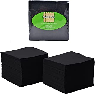 Perfect Stix Paper Cocktail Beverage Napkins, 2-Ply, Black (Pack of 100)