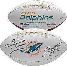 Jason Taylor, Zach Thomas Miami Dolphins Autographed White Panel Football - Fanatics Authentic Certified