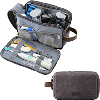 Toiletry Bag for Men, BAGSMART Travel Shaving Dopp Kit Water-resistant Toiletry Organizer for Travel Accessories, Grey