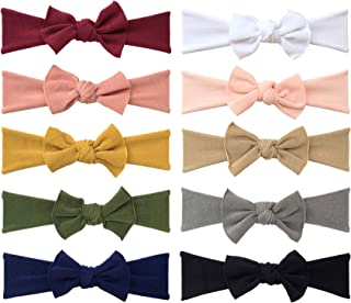 Baby Girl Headbands and Bows, Super Soft & Stretchy Nylon Hair bands for Newborn, Toddler, Children by Cherssy
