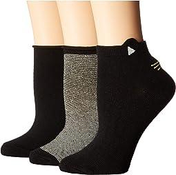 Hayden Cat 3-Pack Anklet Socks
