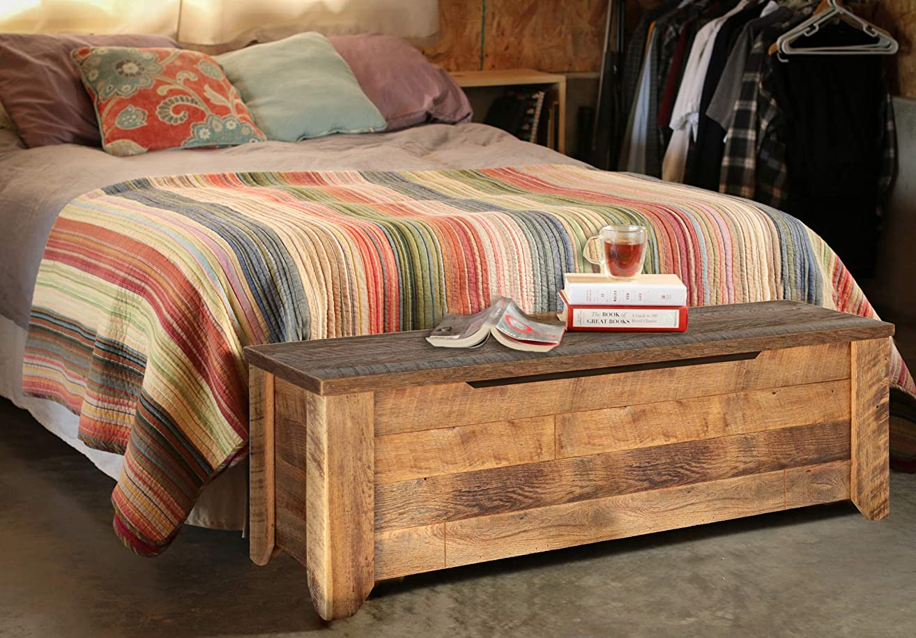 Storage Bench made from reclaimed barn wood - Storage Trunk
