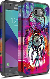J7 V Case, Galaxy J7 Prime Case, Galaxy J7 Sky Pro Case, Galaxy J7 Perx Case, Galaxy Halo Case, Rosebono Dual Layer Shockproof Hard Cover Graphic Case for SM-J727 (Dream Catcher)