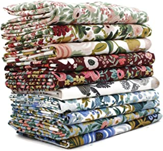 Garden Party Fat Quarter Bundle (10 Pieces) by Rifle Paper Co. for Cotton and Steel 18 x 21 inches (45.72 cm x 53.34 cm) F...