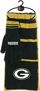 Littlearth NFL Womens NFL Scarf Glove Gift Set Stripe