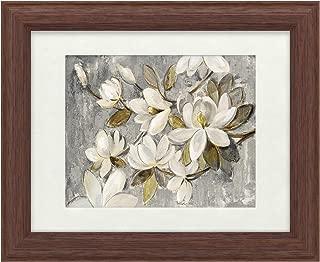Trademark Fine Art Magnolia Simplicity Neutral Gray by Silvia Vassileva, White Matte, Wood Frame 11x14, Multi-Color