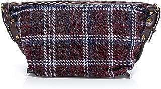Hackett Men's Wool Check Wash Bag Brown