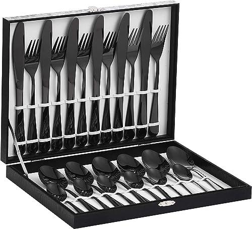 Velaze Juego de Cubiertos, 24 Piezas de Cubertería de Acero Inoxidable 18/10 incluyen 6 Cuchillos de Mesa, 6 Tenedore...