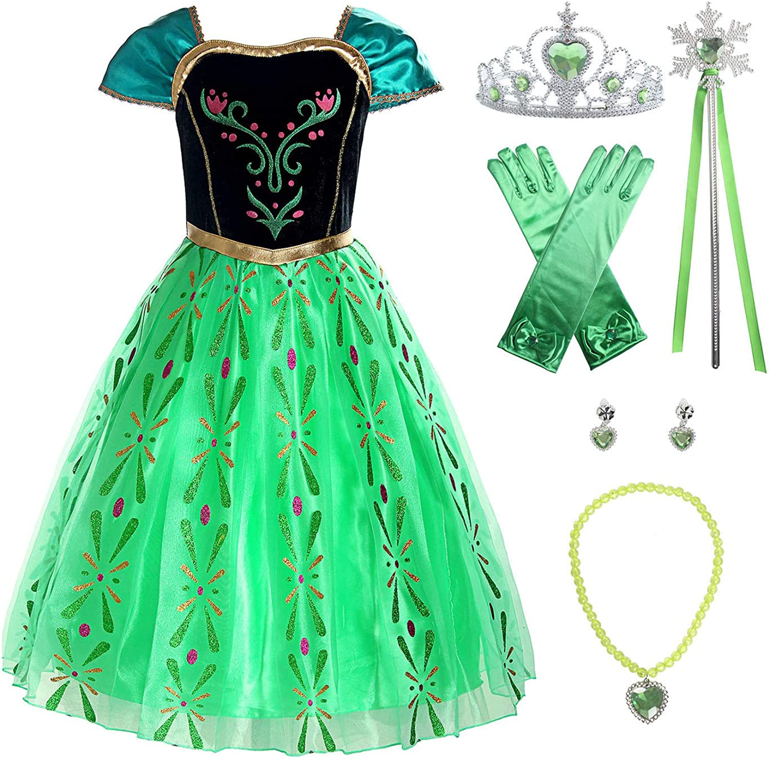 ReliBeauty Girls Shipping included Princess Costume Dress up Apple Green Fashion