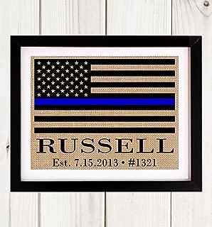 Thin Blue Line Police Officer Gift, Blue Line Flag