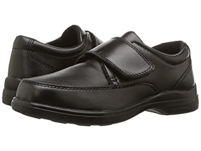 Hush Puppies Kids Gavin (Little Kid/Big Kid) (Black Leather) Boy