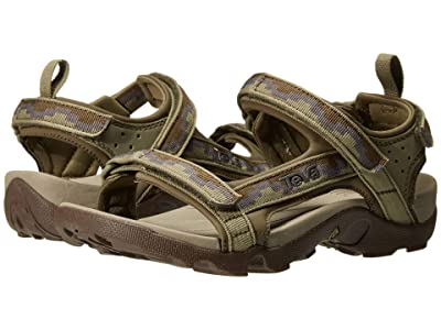 Teva Kids Tanza (Little Kid/Big Kid) (Steps Dark Olive) Kid