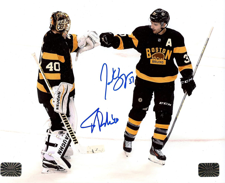 Patrice Max 89% OFF Bergeron Tuukka Rask Boston Fi Max 43% OFF Bruins Autographed Signed