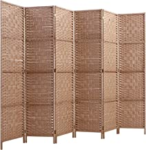 Artiss 6 Panel Room Divider Rattan Folding Partition - Natural
