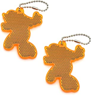 2Pcs Super Bright Children's Safety Reflective Gear, Stylish Pendant Keychain Reflector for Bags Strollers Wheelchair Clot...