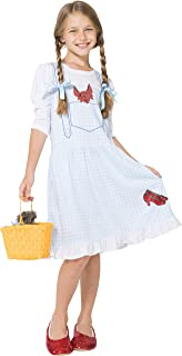 Intimo Girls' Wizard of Oz Dorothy Costume Fantasy Nightgown with Ruby Slippers (7/8)