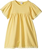 Chloe Kids - Milano Short Sleeve Dress with Percale Details (Little Kids/Big Kids)