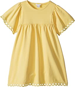 Milano Short Sleeve Dress with Percale Details (Little Kids/Big Kids)