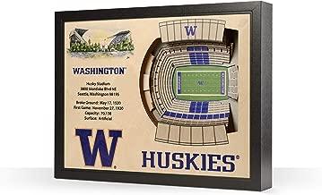 Sportula NCAA Washington Huskies 25-Layer StadiumView 3D Wall Art, YouTheFan