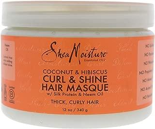 Shea Moisture Coconut & Hibiscus Hair Masque, 12 Ounce