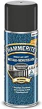 Hammerite Metaalbeschermende lak hammer slag donkergrijs 400ml spray metaalbeschermende lak