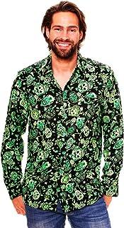 Original King Kameha | Funky Camisa Hawaiana Señores | XS-6XL |Manga Larga Bolsillo Delantero | impresión De Hawaii| Azúca...