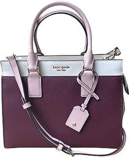 Kate Spade Mini Kona Dawn Place Velvet Deep Plum Leather Satchel Crossbody $249