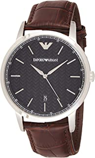 Emporio Armani Casual Watch Analog Display Quartz For Men Ar2480, Brown Band