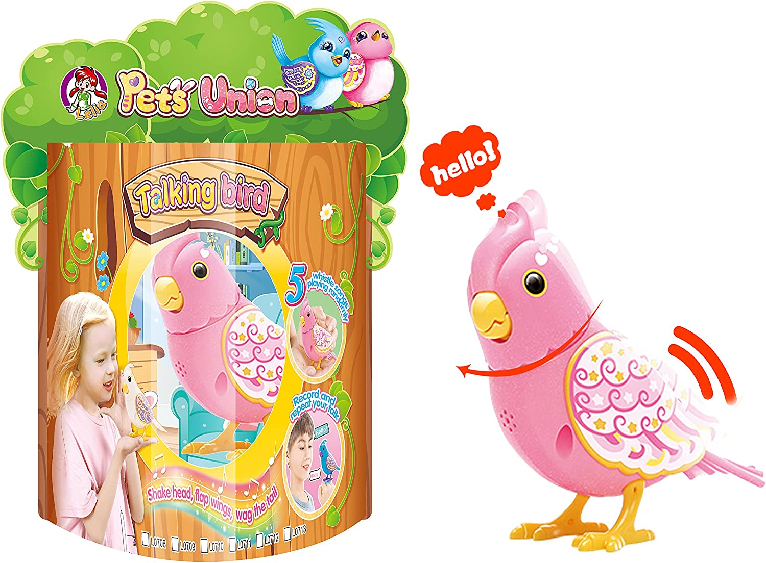 LELIA Chirping Toy Very popular Bird Singing Flap Mouth Head Turn Classic Moving