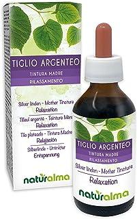 Silberlinde Tilia tomentosa Blüten und Blätter Alkoholfreier Urtinktur Naturalma | Flüssig-Extrakt Tropfen 100 ml | Nahrungsergänzungsmittel | Veganer