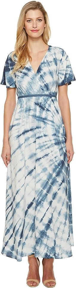 Culture Phit - Fabiola Short Sleeve Tie-Dye Maxi Dress