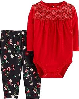 Carter's Baby Girls Floral Crochet Bodysuit Set