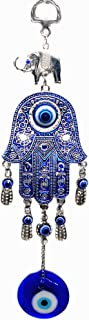 Blue Evil Eye with Hamsa Hand Protection Hanging Decoration (with Betterdecor Pouch) -028