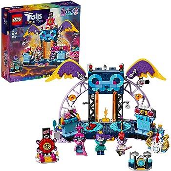LEGO TrollsWorldTour ConcertoaVulcanoRockCity, Playsetcon Poppy,BrancheBarb,Palcoscenico e Chitarre, 41254